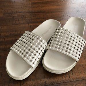 Karl Lagerfeld slip on sandals